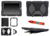 KidsCover Travellor Mini Beschermhoes met Rode Kids-stylus - Geschikt voor Apple iPad Mini - Zwart