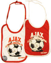 Ajax Little Soccer Fan - Slabbertjes - 2-Pack