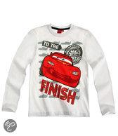 Disney Cars Jongensshirt - Wit - Maat 128