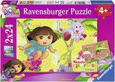 Dora - Kinderpuzzel - 2x 24 Stukjes
