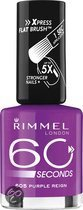 Rimmel 60 Seconds Finish - 605 Purple Reign - Paars - Nagellak
