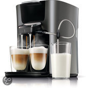 Philips Senseo Latte Duo HD7857/50 Koffiepadmachine - Titanium Zwart