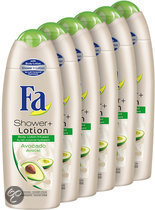 Fa Shower cream Shower + Lotion Avocado - 6 st - voordeelverpakking
