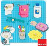 Goula Houten Knopjes Puzzel - Badkamer - 8 Stukjes