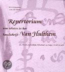 Repertorium van teksten in het handschrift-Van Hulthem + inleiding / druk 1