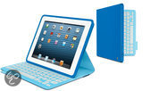 FabricSkin Keyboard Folio for iPad 2/3/4 Electric Blue International layout