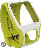 TomTom Cardio Comfort horlogeband - Lichtgroen/Wit