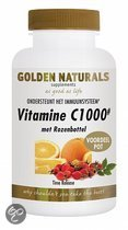 Golden Naturals Vitamine C1000+ Rozebottel - 250 Tabletten  - Vitaminen