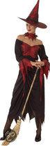 Halloween Luxe Boze Heks - Kostuum - Maat M - Zwart
