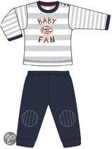 Psv Baby pyjama zwart/grijs/wit maat 74/80