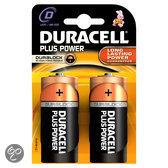Duracell Plus Power D Alkaline Batterijen 2x Pak