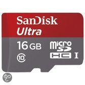 Sandisk Ultra microSD kaart 16 GB + SD adapter