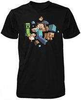 Minecraft - Run Away Kinder T-Shirt - 140