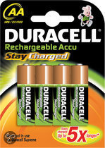 Duracell Rechargeable Accu Stay Charged - 4xAA