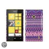 Paars Aztec gel hoesje Lumia 525