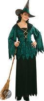 Halloween Luxe Gothic Heks - Kostuum - Maat M - Zwart
