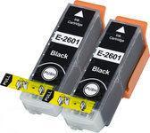 Compatible Epson T2616 / T2636 / Epson 26 / Epson 26XL, 2 Pak. 2 Zwart groot.
