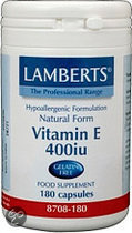 Lamberts Vitamine E Natural 400 ie - 180 Capsules