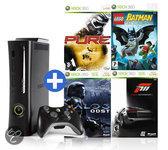 Foto van Microsoft Xbox 360 Elite Voordeelbundel incl. Forza 3, Halo 3: ODST, Pure & Lego Batman