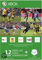 Foto van Microsoft Xbox Live Gold Abbonnement - 12 Maanden + 2 gratis wedstrijden Eredevisie Live