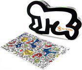 Houten Keith Haring puzzel, 96 stukjes