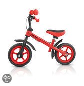 Milly Mally DRAGON met extra handrem - Loopfiets - Rood