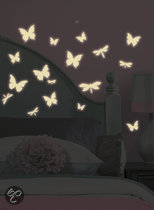 RoomMates - Muursticker Butterfly & Dragonfly - Glow in the dark