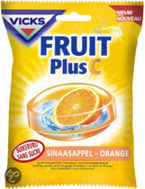 Vicks Fruit Plus C Orange Suikervrij 75 g