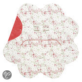 Wallaboo Babydeken Leaf - Multifunctionele inwikkeldeken 85 * 85 cm - Warm red