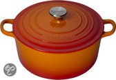 Le Creuset Braadpan  24 cm - Oranje