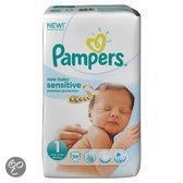 Pampers New Baby Sensitive - Maat 1 met urine indicator Voordeelpak 39 stuks