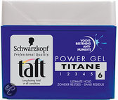 Taft Styling Power Titane pot - 250 ml - Gel