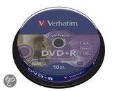 Verbatim 43576 DVD+R LightScribe Schijven - 10 Stuks / Spindel