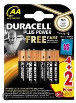 Duracell Plus Power AA (Zilver, 4 stuks + 2 gratis)