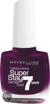 Maybelline SuperStay/Forever Strong - 05 Cassis Extreme - Paars - Nagellak