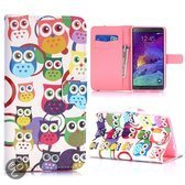 Samsung Note 4 Owl Flip cover, hoesje, case