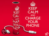 Apple iPhone 5C - Externe batterij - Keep calm and charge your phone - Power bank - 2600mAh - Kleur groen - Merk Westerhuis & van Andel huismerk