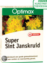 Optimax Super Sint Janskruid Tabletten 60 st
