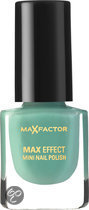 Max Factor Max Effect - 27 Cool Jade - Groen - Mini Nail Polish