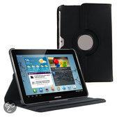 Samsung Galaxy Tab 2 10.1 P5100 / P7500 PU Lederen 360 graden rotatie hoes case hoesje zwart