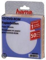 Hama 04751089 CD/DVD Rom Papieren Sleeves - 50 Stuks