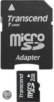 Transcend microSD-kaart 2 GB + SD-adapter