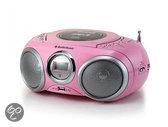 AudioSonic CD-1572 - Radio/cd-speler - Roze