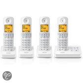 Philips D405 - Quattro DECT Telefoon met antwoordapparaat - Wit