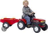Falk Tractor New Holland Rood + Aanhanger