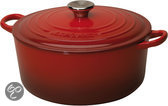 Le Creuset -  Braad/stoofpan -  20 cm - rood