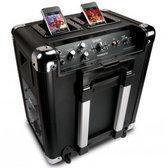ION Mobile DJ - Draagbare Speaker met Dubbel Docking Station - Zwart