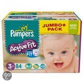 Pampers Active Fit - Luiers Maat 3 - Jumbo Pack Midi Plus 84st
