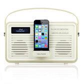 View Quest Retro DAB+ Radio Lightning Dock - Cream