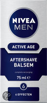 Nivea for Men Active Age - 75 ml - Aftershave balsem